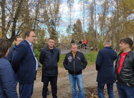 Контрольно-счетная палата города приняла участие  в выездном заседании комиссии по городскому хозяйству  на о. Татышев.